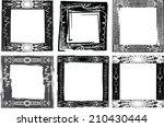 set of grunge frames  | Shutterstock .eps vector #210430444