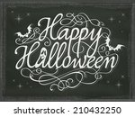vintage halloween background... | Shutterstock .eps vector #210432250
