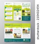 real estate brochure flyer... | Shutterstock .eps vector #210432454