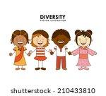 diversity of races over white ... | Shutterstock .eps vector #210433810
