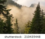 fog on the top of grouse... | Shutterstock . vector #210435448