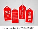 set of four price tags with... | Shutterstock .eps vector #210435988