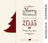 christmas and new year. vector... | Shutterstock .eps vector #210440836
