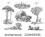 village illustration | Shutterstock . vector #210443530