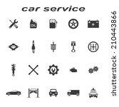 car service icons vector set | Shutterstock .eps vector #210443866