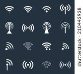 collection of wifi icons. vector | Shutterstock .eps vector #210443938