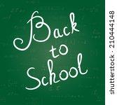 back to school background.... | Shutterstock .eps vector #210444148