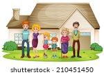 illustration of a family... | Shutterstock . vector #210451450