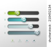 vector chart template in modern ...   Shutterstock .eps vector #210452134