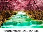 huai mae khamin waterfall in... | Shutterstock . vector #210454636