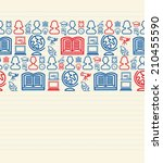 education seamless pattern... | Shutterstock .eps vector #210455590