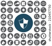 security icons set | Shutterstock .eps vector #210457750