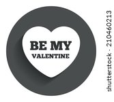 be my valentine sign icon.... | Shutterstock . vector #210460213