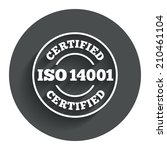 iso 14001 certified sign icon....