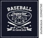 college baseball team emblem... | Shutterstock .eps vector #210465760
