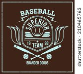 college baseball team emblem... | Shutterstock .eps vector #210465763