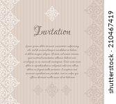 vector beige baroque damask... | Shutterstock .eps vector #210467419