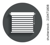 louvers sign icon. window...