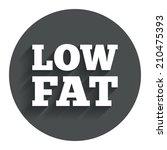 low fat sign icon. salt  sugar...
