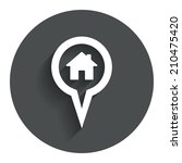 map pointer house sign icon....
