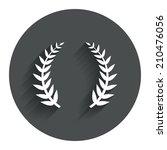 laurel wreath sign icon....