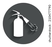 fire extinguisher sign icon....