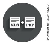 export xls to pdf icon. file...