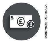cash sign icon. pound money...