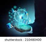 software development and usage... | Shutterstock . vector #210480400