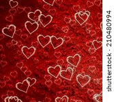 hearts texture background  | Shutterstock . vector #210480994