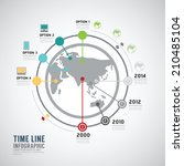 timeline infographic world... | Shutterstock .eps vector #210485104