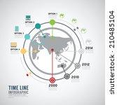 timeline infographic world... | Shutterstock .eps vector #210485104