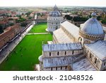 Famous Piazza Dei Miracoli Square of Miracles in Italy - stock photo