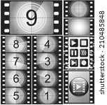 movie countdown  vintage silent ... | Shutterstock .eps vector #210485848