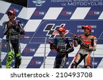 Постер, плакат: The three MotoGP winners