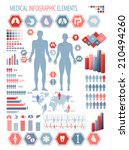 medical infographics elements.... | Shutterstock . vector #210494260