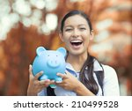 closeup portrait happy  smiling ... | Shutterstock . vector #210499528