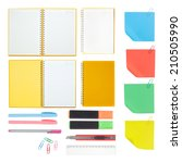 notebook and school or office... | Shutterstock . vector #210505990
