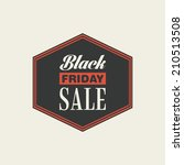 abstract black friday label on... | Shutterstock .eps vector #210513508