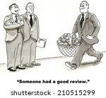 """someone had a good review."" 