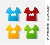 paper clipped sticker  children'... | Shutterstock .eps vector #210520384
