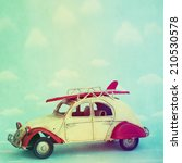 retro vintage tropical... | Shutterstock . vector #210530578