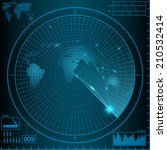 radar  monitor weapon | Shutterstock .eps vector #210532414