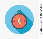 compass flat icon with long... | Shutterstock .eps vector #210556348