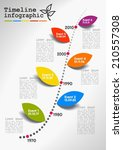 vector timeline infographics ... | Shutterstock .eps vector #210557308