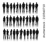 silhouette group of people... | Shutterstock .eps vector #210560710