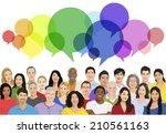 vector of multiethnic diverse... | Shutterstock .eps vector #210561163