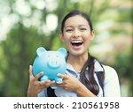 closeup portrait happy  smiling ... | Shutterstock . vector #210561958