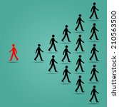 the red ones go in the opposite ... | Shutterstock .eps vector #210563500