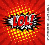 lol  comic speech bubble ... | Shutterstock .eps vector #210563878